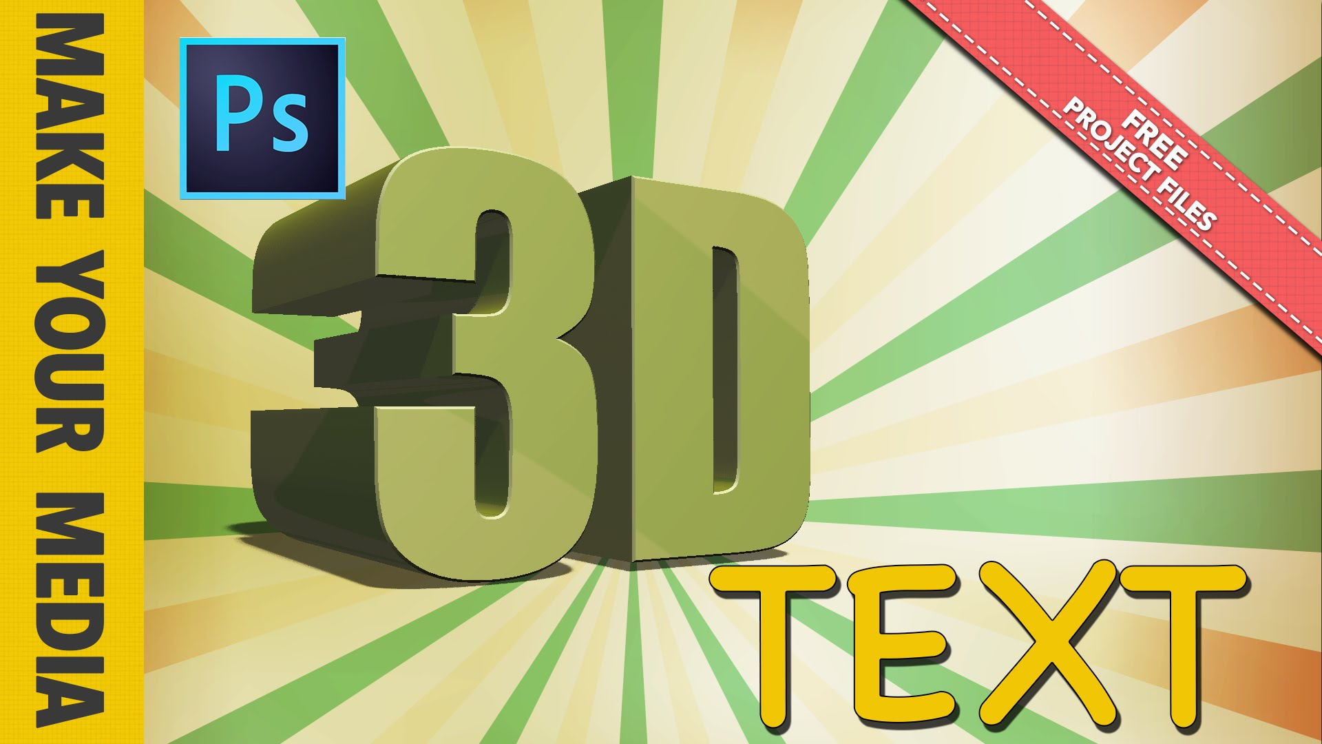 How to Make 3D Text – Photoshop CC Tutorial - Make Your Media