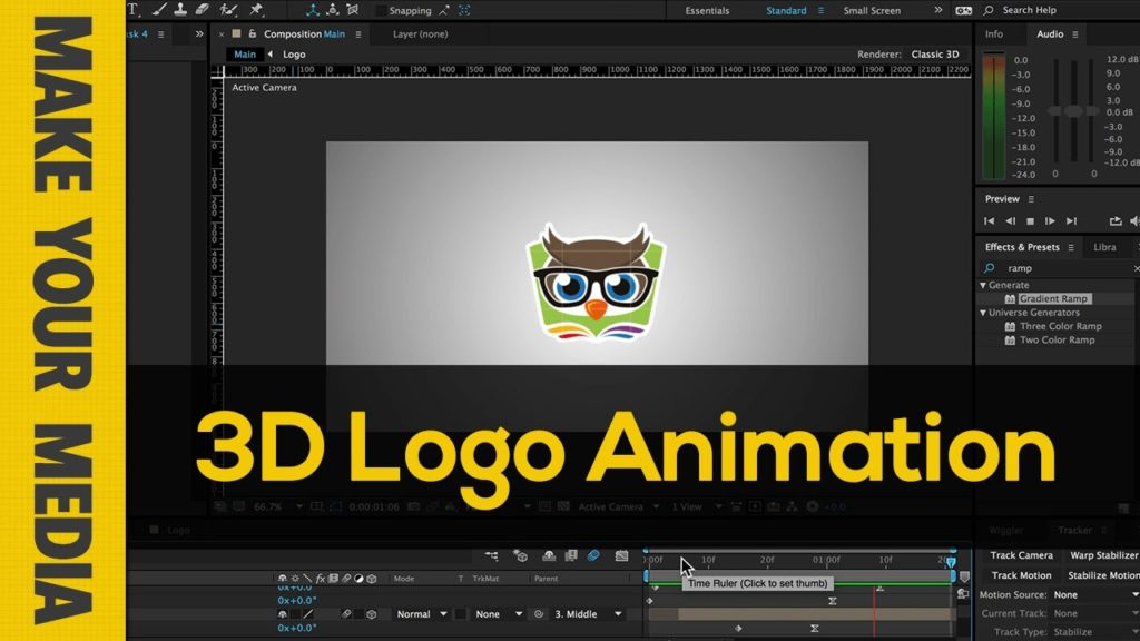 After effects create 3d logo animation make your media for 3d building creator