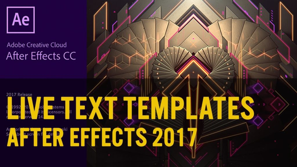 After Effects & Premiere Pro 2017 - Live Text Template - Make Your Media